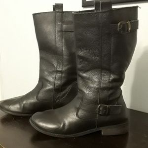 MIA Leather Biker Boots Mid Calf Women's Sz 10